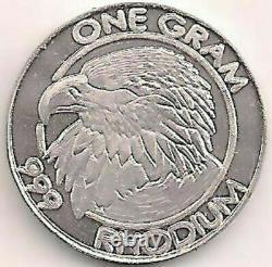 Rhodium Eagle 1 Gram 99,9 % Pure Cohen Menthe Valeur Supérieure À L'or Ou Au Palladium