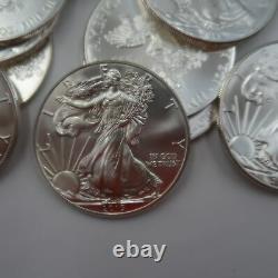 Roll Of 20 2015 Silver Eagles Bu In Us Mint Tube Aucune Réserve Livraison Gratuite