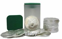 Rouleau 2016 De 20 Silver Eagle American Eagle Us 1oz Us Mint Us $ 1 Bu Coins