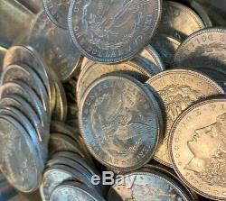 Rouleau 20 Pièces 1 $ Unc Bu Ms 1921 Morgan Us Silver Dollars Aigle 90% En Vrac Lot