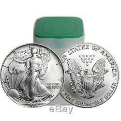 Rouleau De 20 1986 1 Oz Argent American Eagle Silver De 1 Once Bu (lot, Tube De 20)