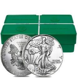 Rouleau De 20 1989 1 Oz D'argent American Eagle 1 Coin Bu $ (lot, Tube De 20)