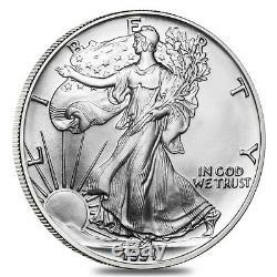 Rouleau De 20 1991 1 Oz D'argent American Eagle 1 Coin Bu $ (lot, Tube De 20)