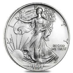 Rouleau De 20 1992 1 Oz D'argent American Eagle 1 Coin Bu $ (lot, Tube De 20)