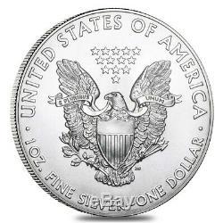 Rouleau De 20 2011 1 Oz D'argent American Eagle 1 Coin Bu $ (lot, Tube De 20)