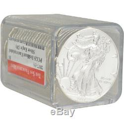 Rouleau De 20 2017- (s) American Silver Eagle Pcgs Bu Sf Étiquette Monnaie
