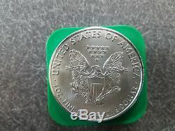 Rouleau De 20 Complet 2011 American Silver Eagles 1 Oz Bu Pièces En Us Mint Tube