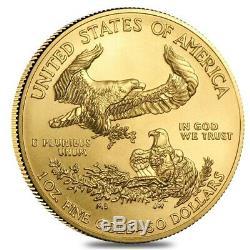 Rouleau De 20 Onces D'or 2020 1 American Eagle 50 $ Coin Bu (lot, Tube De 20)