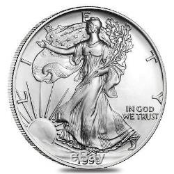 Rouleau De 20 Pièces D'argent Us 2013 De 1 Once En Argent American Eagle (lot, Tube De 20)