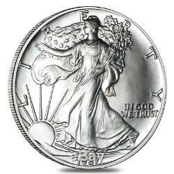 Rouleau De 20 Pièces De Monnaie Américaine American Eagle En Argent De 1987 De 1 Oz (lot De 20 Tubes)