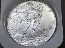 Rouleau De 20 Silver Eagles Américains Un Oz. 2002 En Nous Mint Tube + Bonus Silver Coin