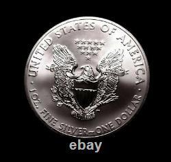 Rouleau De Menthe 2014 De 20 1 Troy Oz. 999 Pièces D'aigle Américain D'argent Fine