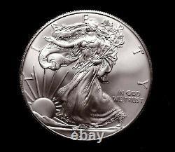 Rouleau De Menthe 2014 De 20 1 Troy Oz. 999 Pièces D'aigle Américain D'argent, Non Ouverte