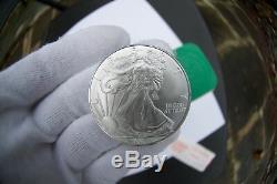 Rouleau De Menthe Tube 999 Silver Eagle Dollars 999 De 20 Pièces X 1 Troy Oz