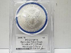 Série De Graveurs À La Menthe Signés Eagle Pcgs Sp70 Mercanti, Argent Bruni, W $ 1