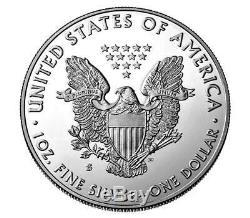 Sf Neuf De 2019 S-999 Am. Silver Eagle Renforcée Inverse 1 Coin Proof Withcoa $