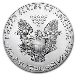 Silver Eagle - Pièce De Monnaie - 1 Oz - Lot De 100 Dates Aléatoires Dans Des Tubes À La Menthe