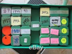 Silver Eagle Rouleau Lot Monstre Caissonnées Rolls 1986 2005 2008 (3), 2010 (2)