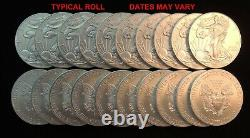 Silver Eagles Roll Of 20 Mixte Date Us 1 Once Coins Mint State Livraison Gratuite