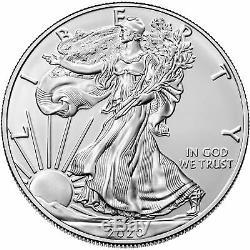 Tube De 20 2020 $ 1 1 Oz Américaine Silver Eagle Coin. 999 Bu Fin Us Mint