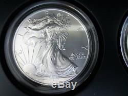 U. S. Mint American Eagle Ensemble De Pièces D'argent Du 25e Anniversaire 2011