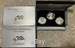 U. S. Mint American Eagle Set De Pièces D'argent Du 20e Anniversaire