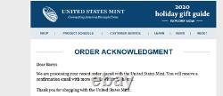 U. S. Mint Fin De La Seconde Guerre Mondiale 75e Anniversaire American Eagle Silver Proof Coin