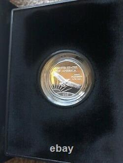 Us Mint 1997 Platinum D'eagle 1/4 25 $ Dollar Épreuve Numismatique Bullion Coin Émission Inaugurale