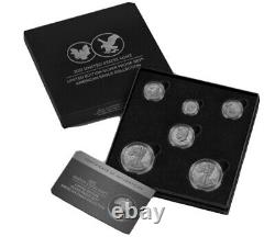Us Mint 21rcn Limited Edition 2021 Silver Proof Set American Eagle Collection