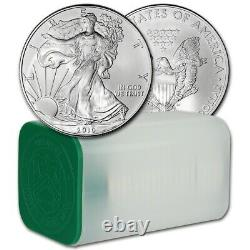 Us Mint-packed Tube Of 20 Coins-2010 American Silver Eagle $1 Bright Unc