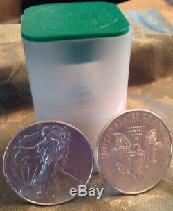 Vente Spéciale 2020 Américaine Silver Eagles (20) Argent Eagles 1 Oz Mint Rouleau