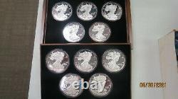 Washington Mint Giant Silver Eagles Half Pound. 999 1986-1995 10 Pièces Au Cas Par Cas