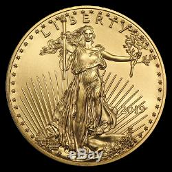 (lot De 4) Ch / Gem Bu 2019 1/4 Oz. 10 $ American Eagle Gold United States Coin